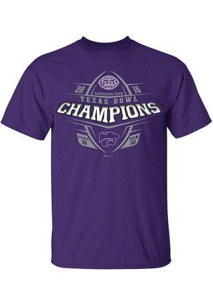 3bcd9e3fa288 K-State Wildcats Mens Purple Texas Bowl Champions Tee | Kansas State ...