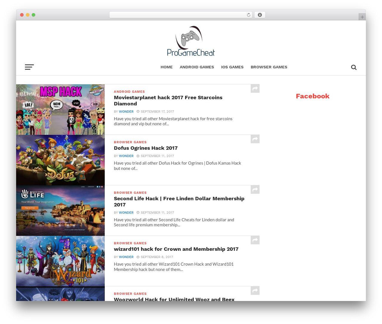 Click Mag WordPress template - progamecheat com   WordPress