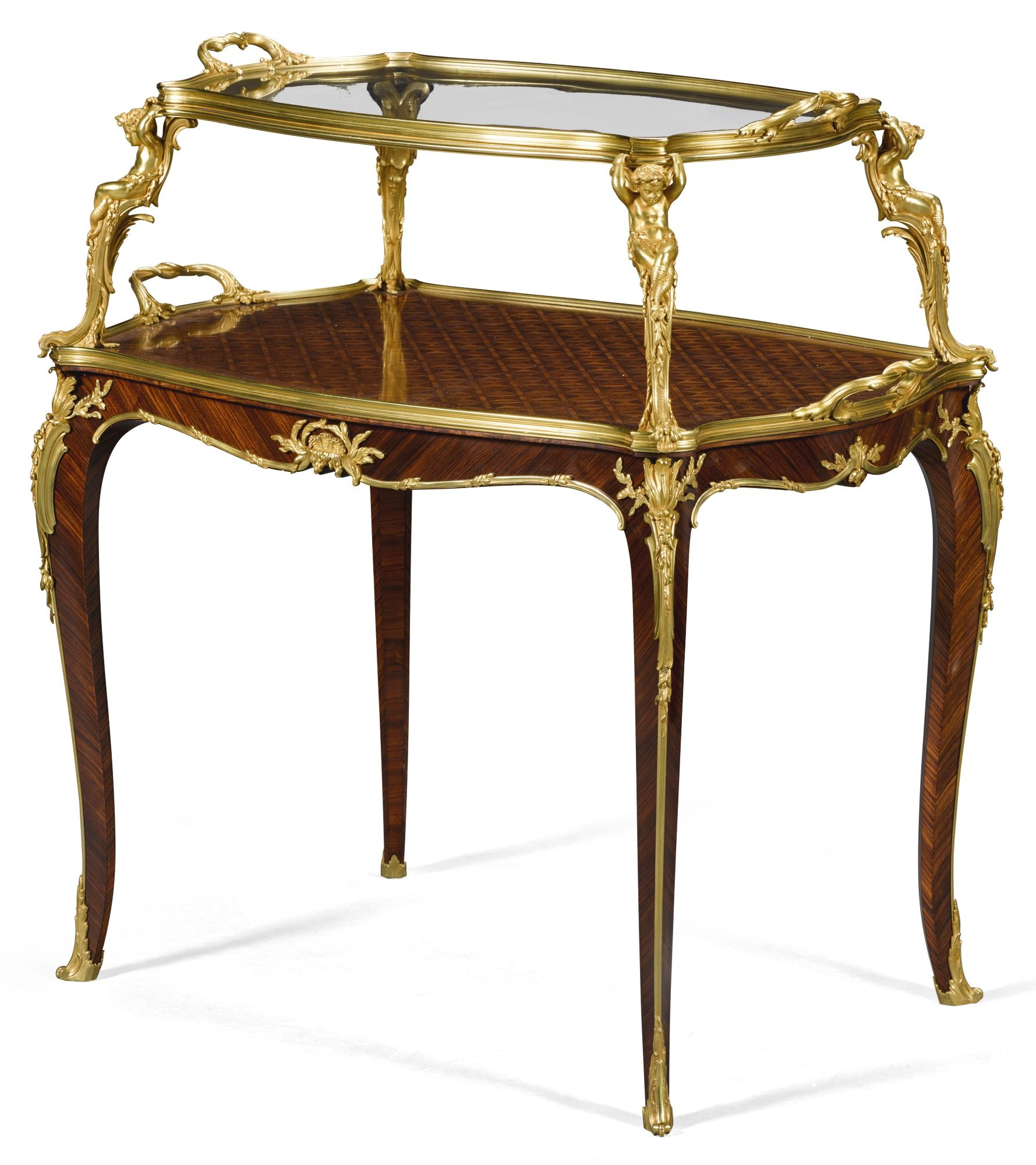 c1900 A Louis XV style giltbronze mounted kingwood and
