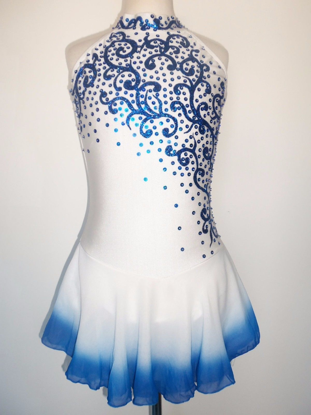 SALE NEW FIGURE ICE SKATING BATON TWIRLING DRESS COSTUME GIRL XL