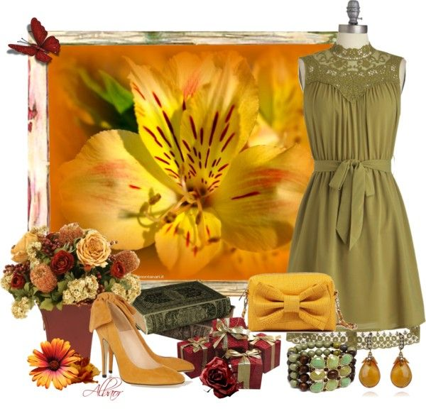 """""""A large flower"""" by albaor ❤ liked on Polyvore"""