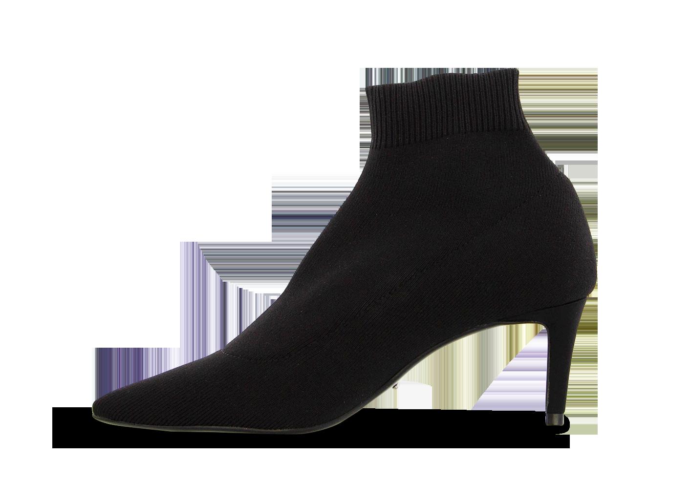 Gwen Black Sock Knit Ankle Boots Boots Black Socks Ankle Black Socks