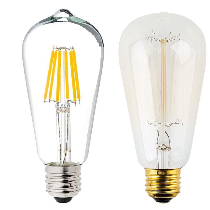 St18 Led Filament Bulb 60w Equivalent Vintage Light Bulb 12v
