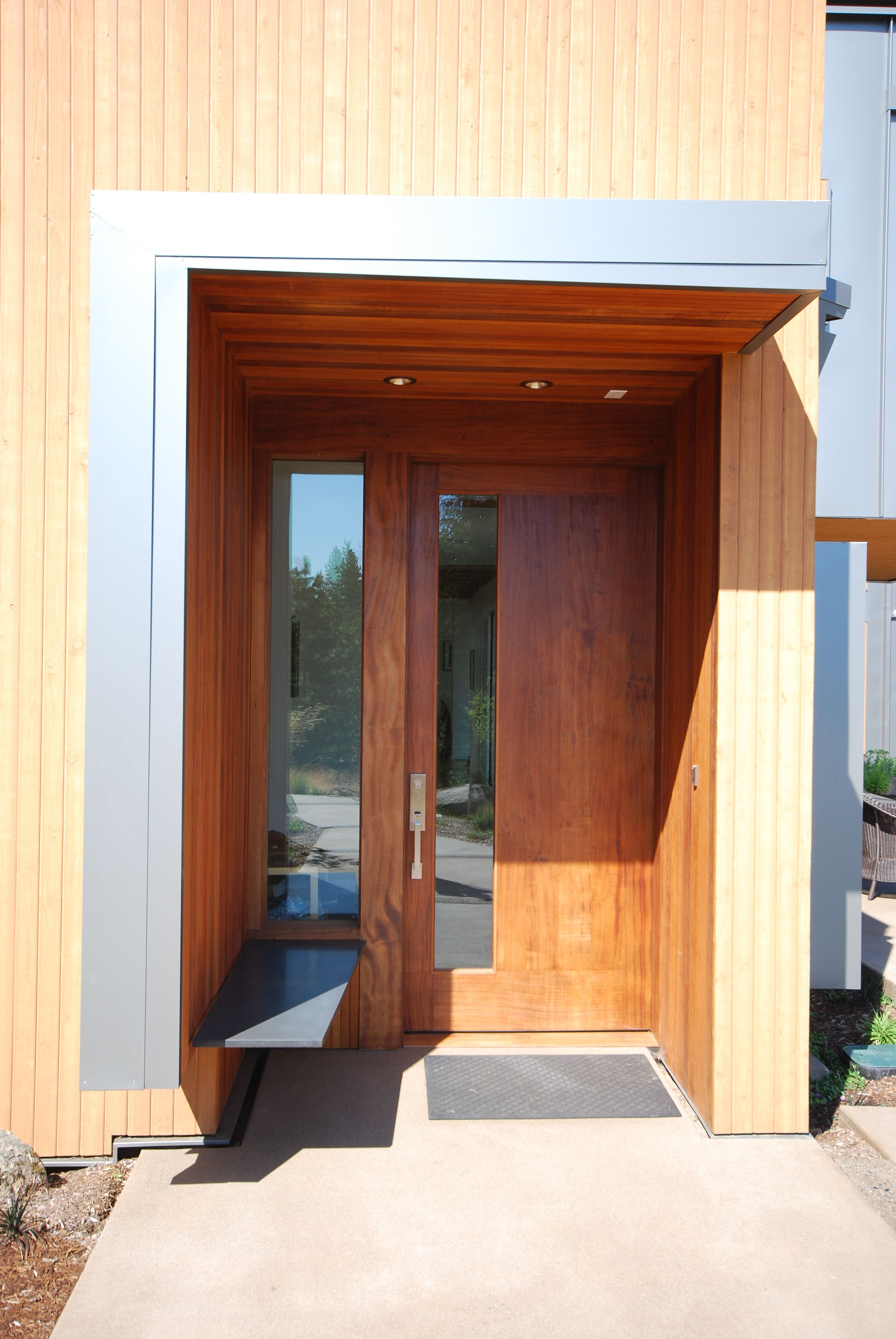 Front Entry Door Innovative Sustainable Architecture Residential