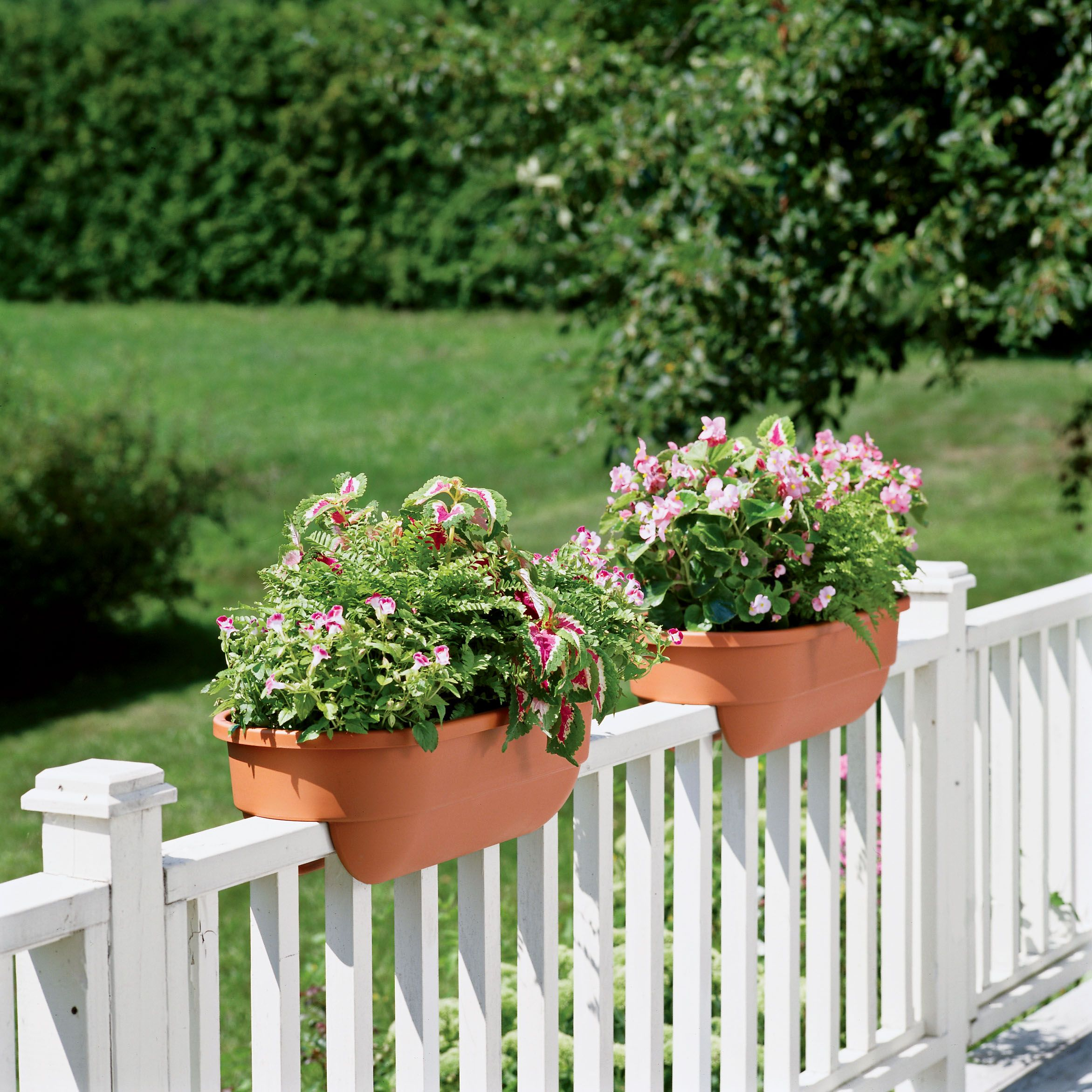 ideas planters and acke info deck railing planter archa lowes bench designs images