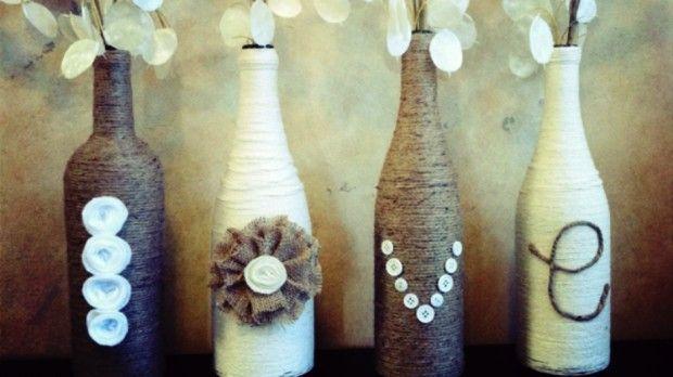 Wine Bottle Crafts For Diy Decor Vase Wine Bottle Crafts