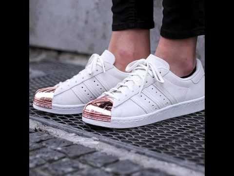 adidas superstar blancas metallic
