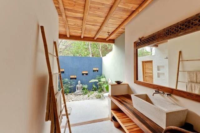 downstairs garden bathroom - Casa Macondo Romantic Tropical Luxury Beach Villa -  - rentals