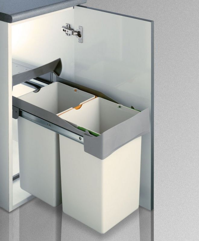 Cubo de basura de reciclaje extra ble para armario de - Cubos reciclaje cocina ...