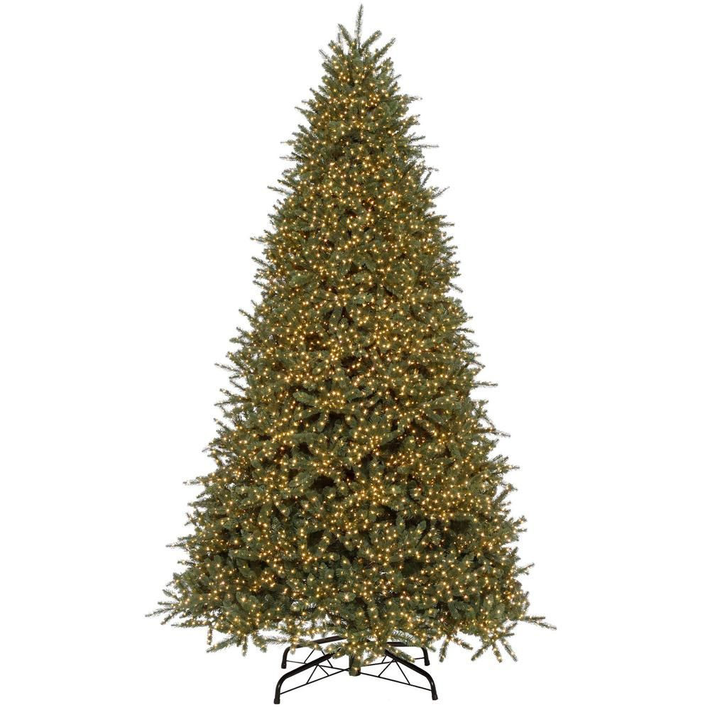 Home Accents Holiday 9 Ft Pre Lit Led Timber Creek Fir Color Changing 8 Function Artifici Artificial Christmas Tree Slim Artificial Christmas Trees Led Lights