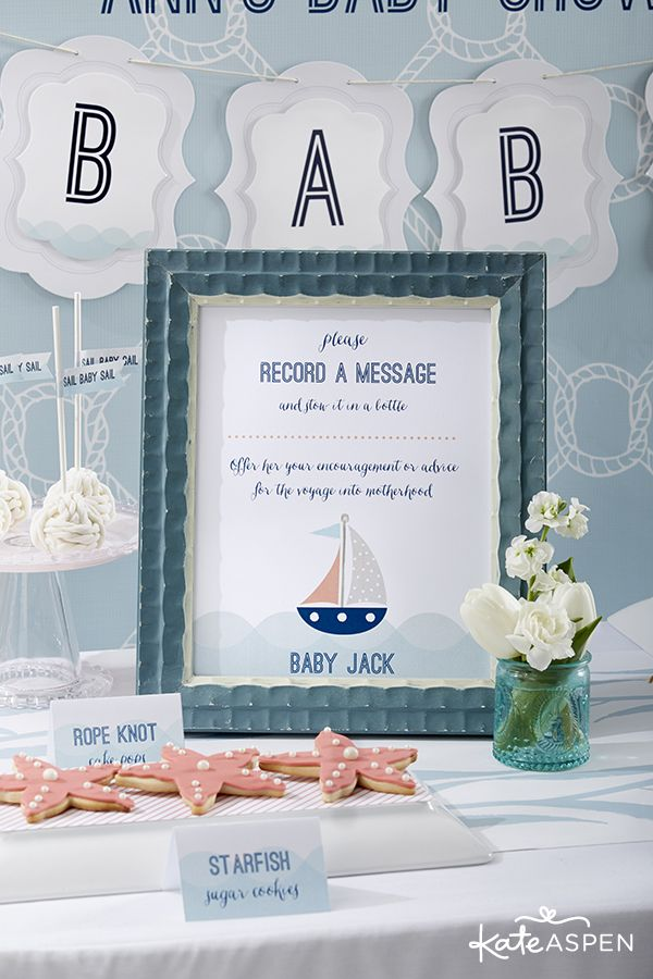 Quick Easy Diy Message In A Bottle Guest Book Alternative Kate Aspen Blog Bee Baby Shower Nautical Baby Shower Baby Shower