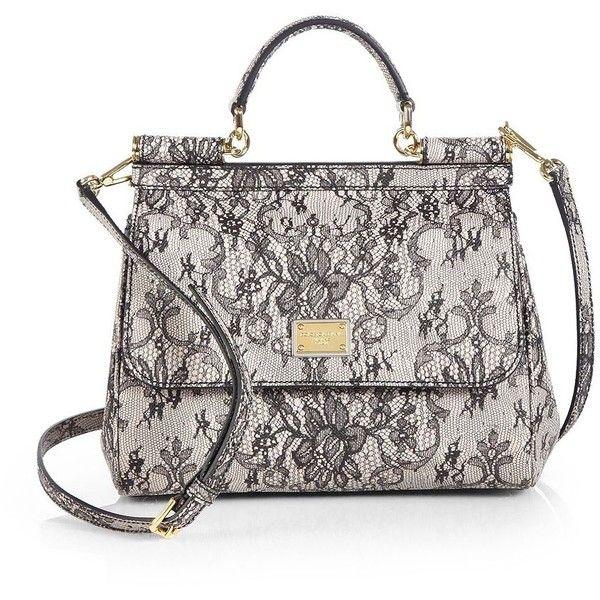2d27dee2d40 Dolce & Gabbana Miss Sicily Lace Print Satchel   Handbags I Love ...
