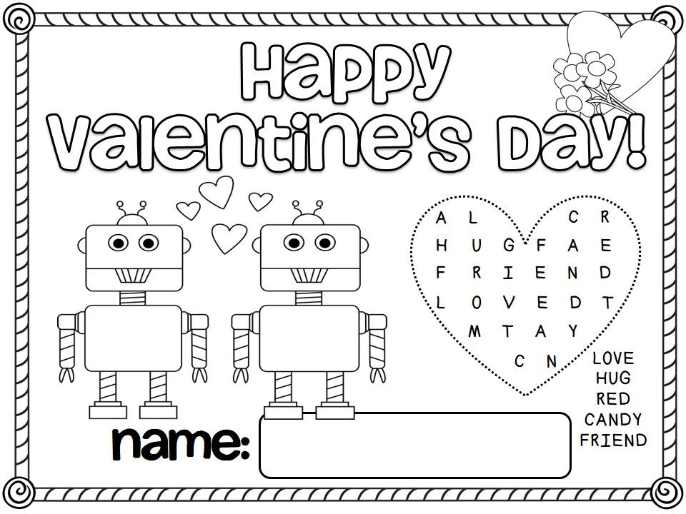 Free Valentine S Day Activity Mats Valentines Day Activities Free Valentine Valentines