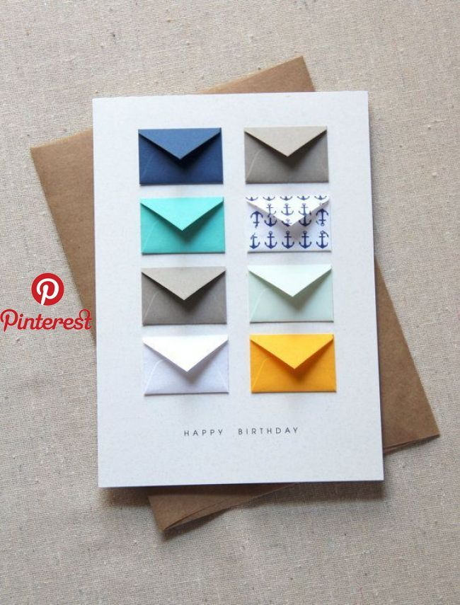 41 Handmade Birthday Card Ideas With Images And Steps Article About List Of Handmade Diy Birthday C Birthday Cards Diy Tiny Envelopes Birthday Card Sayings