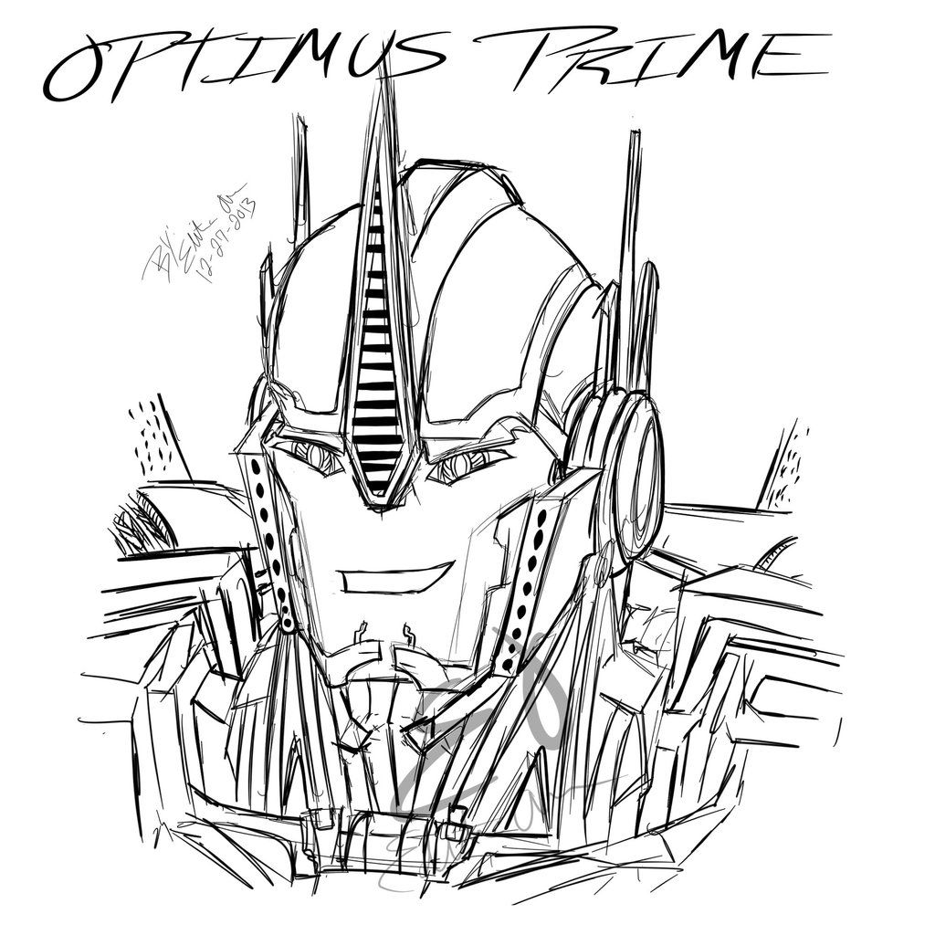 Optimus Prime Coloring Pages | Transformers | Pinterest ...