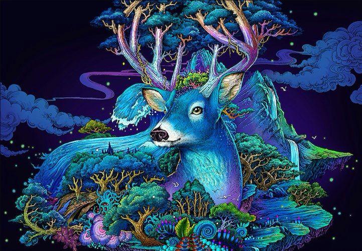 благотворно влияет сказочные картинки с оленями мужская