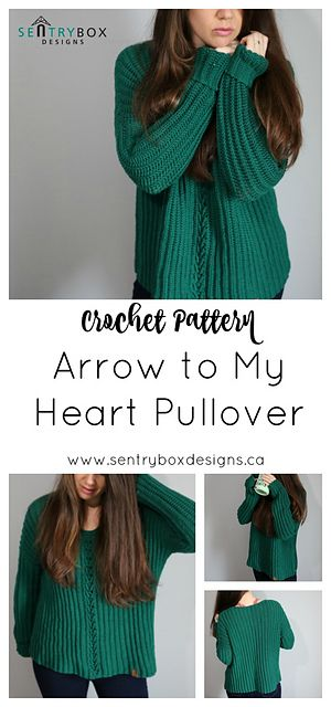 Arrow To My Heart Pullover Pattern By Sentry Box Designs Crochet