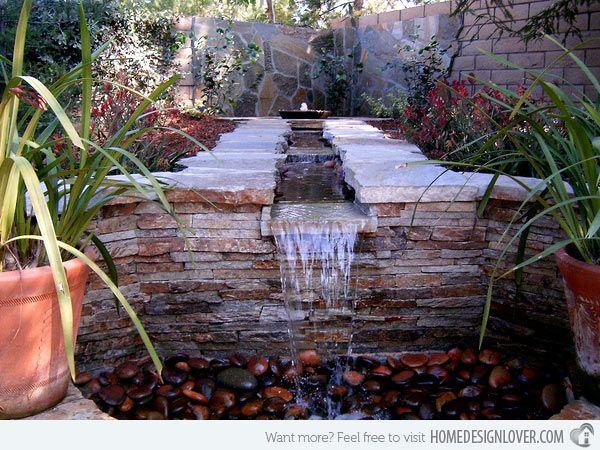 Kleiner Garten Reihenhaus Von Kleine Sitzecke Im Garten: Cool Water Feature-Ideen Für Die Terrasse #Garten
