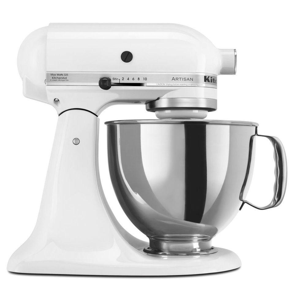 Uncategorized Ebay Appliances Kitchen kitchenaid artisan ksm150ps 5qt 300w 4 7 l tilt head stand mixer white new 050946877020