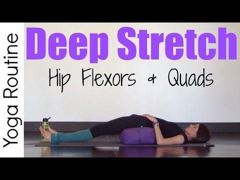 20 minute deep stretch yoga for hip flexors  quads