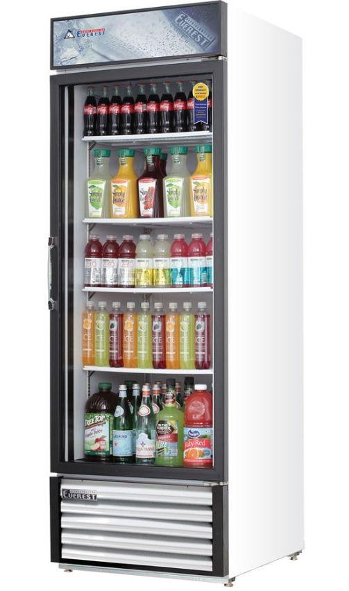 Everest Refrigeration Refrigerator Hinged Glass Door Merchandiser 1 Section Emgr20 Glass Door Drinks Fridge Beverage Fridge