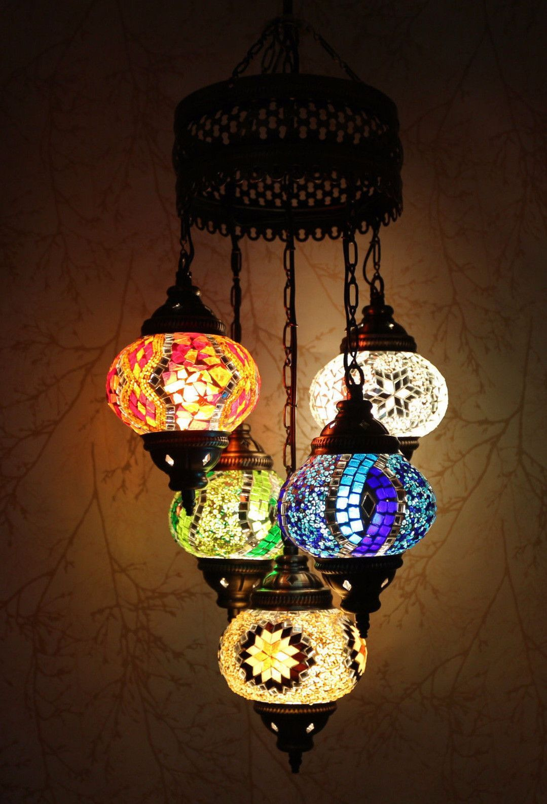 Turkish mosaic chandelier red bold blue pinterest mosaics turkish mosaic chandelier red bold blue aloadofball Images