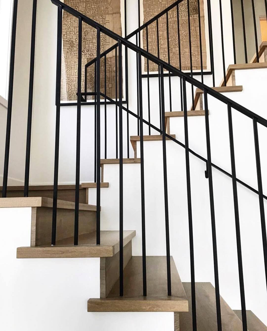 Railing And Steps Balusters Are 1 2 Square And The Handrail Is 1 1 2 Flat Stock Warren Christopher Floors Stairs Coastal Interiors Design Iron Handrails