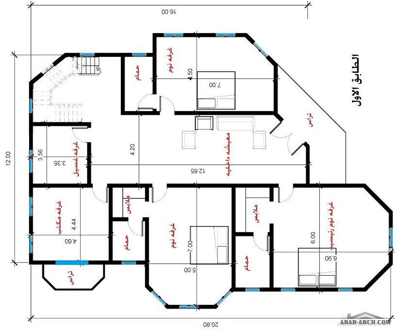 مخطط فيلا بمساحه 200 متر مربع بالسعودية مهندسة سمر فؤاد Family House Plans Model House Plan My House Plans