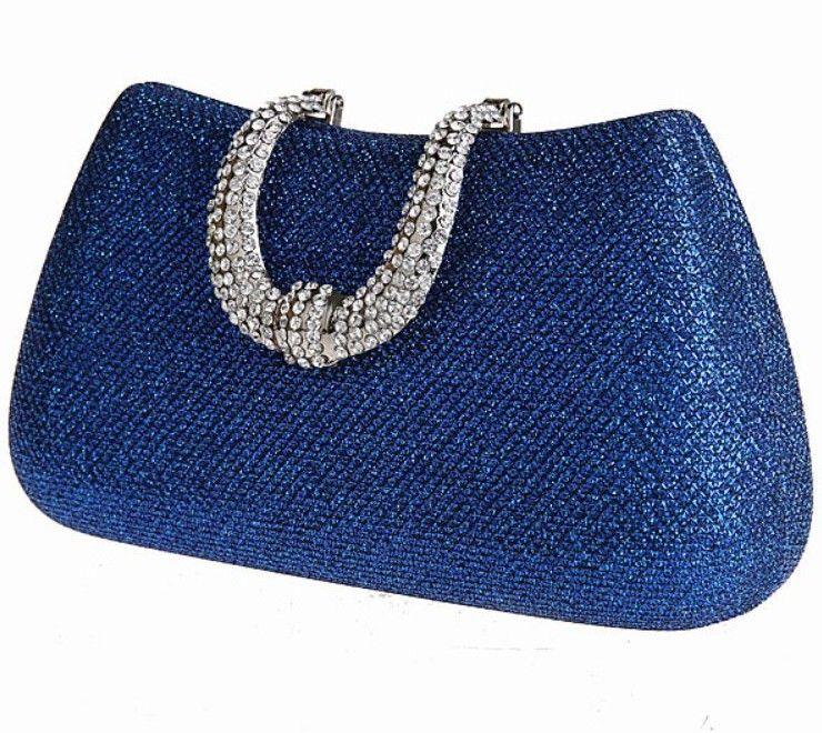 Vochic Glamour Rhinestone Hard Case Evening Wedding Party Clutch Purse Wallet