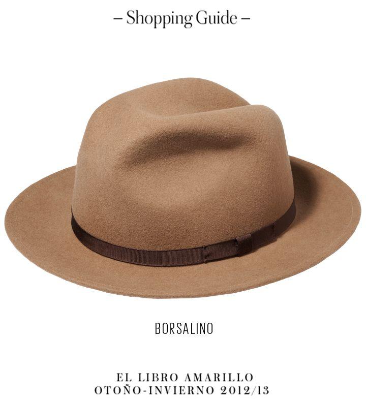 Hombre - Sombrero - Borsalino - El Palacio de Hierro - El Libro Amarillo  Otoño Invierno 12 13 92937514ad7
