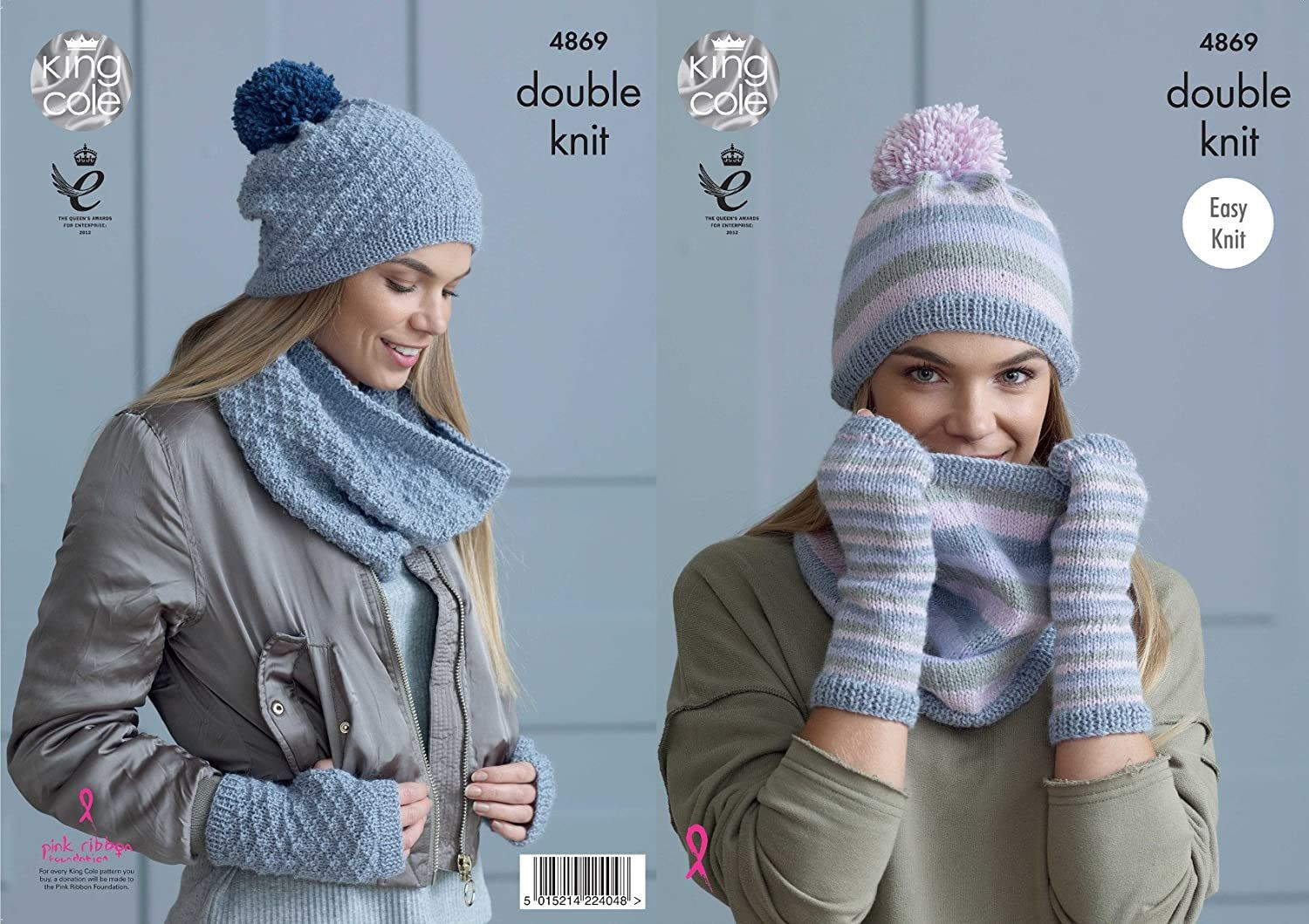 King Cole Ladies Double Knitting Pattern Easy Knit Womens ...
