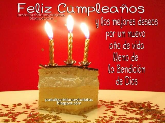 Spanish BIRTHDAY CUMPLEANOS Pinterest – Birthday Greeting in Spanish