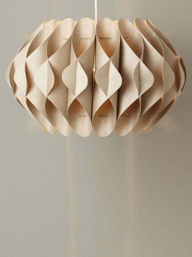 Arlo Sculptured Ceiling Shade Bhs Co Uk 35 This Wooden Shade Has A Scandi The Independent Origami Lights Diy Lamp Shade Paper Lampshade