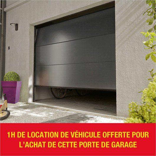 Porte De Garage Sectionelle Palma Acier Gris Anthracite 200 X 240 Cm Porte Garage Garage Portes