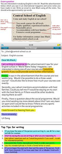 A more formal email - http\/\/learnenglishteensbritishcouncilorg - professional letter and email writing guidelines
