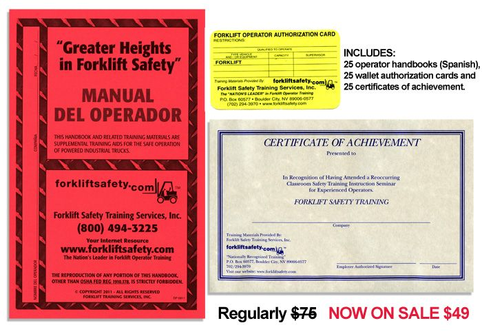 Osha Compliant Forklift Training And Operator Certification Kits Safety Training Forklift Safety Forklift Training