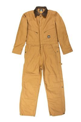 find berne men s duck quilt lined insulated coverall in on best insulated coveralls for men id=52060