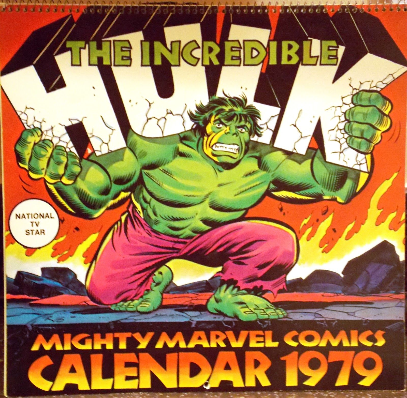 Marvel 1979 Calendar Comic Book Shop The Incredibles