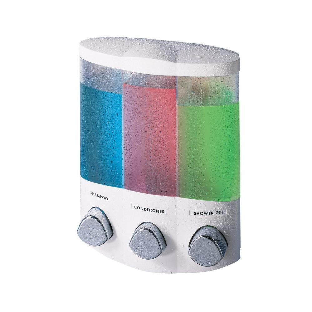 Better Living Trio Corner Dispenser In White 76354 Home Shower