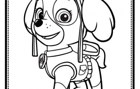 Skye Paw Patrol Coloring Pages Paw Patrol Coloring Pages Paw