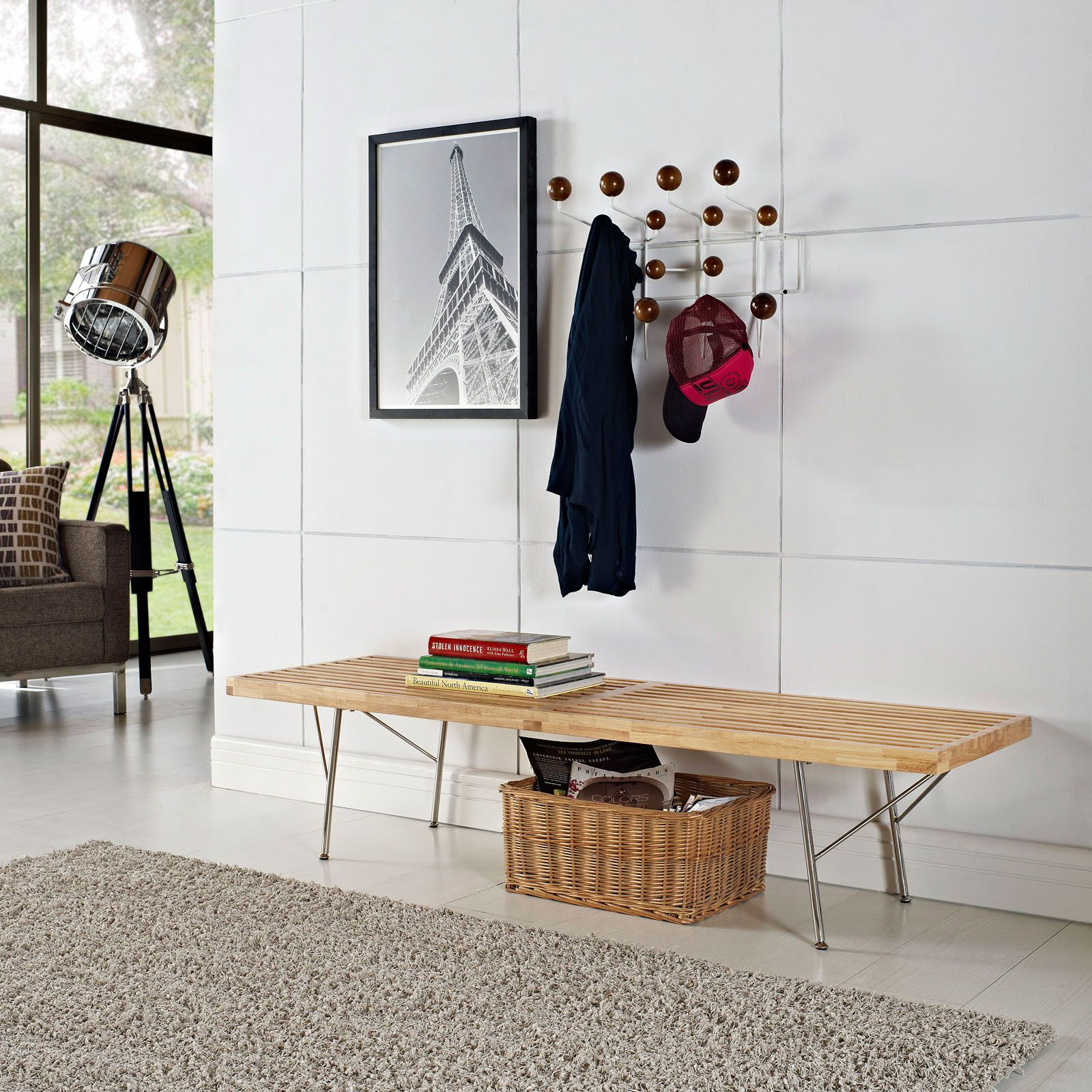 Parawood Grate Bench - Light Spring Entryway Collection - Dot & Bo