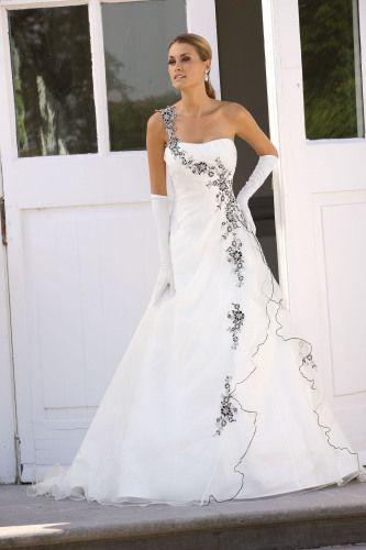 Trouwjurk Grijs Met Wit.Trouwjurk Wit Met Zwart Grijs Accent My Dream Wedding Wedding