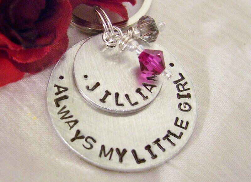 Bride Gift From Mom Mother Hand Stamped Key Chain Always My