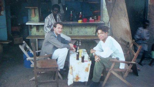 Briet basquiat 1986 l   Philippe Briet and Jean  Michel Basquiat   Abdijan 1986   photo Jennifer Goode