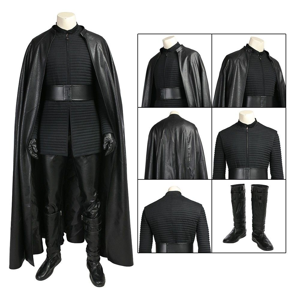 Kylo Ren Cosplay Costume Star Wars 8 The Last Jedi Deluxe Edition Star Wars Outfits Jedi Costume Kylo Ren Cosplay
