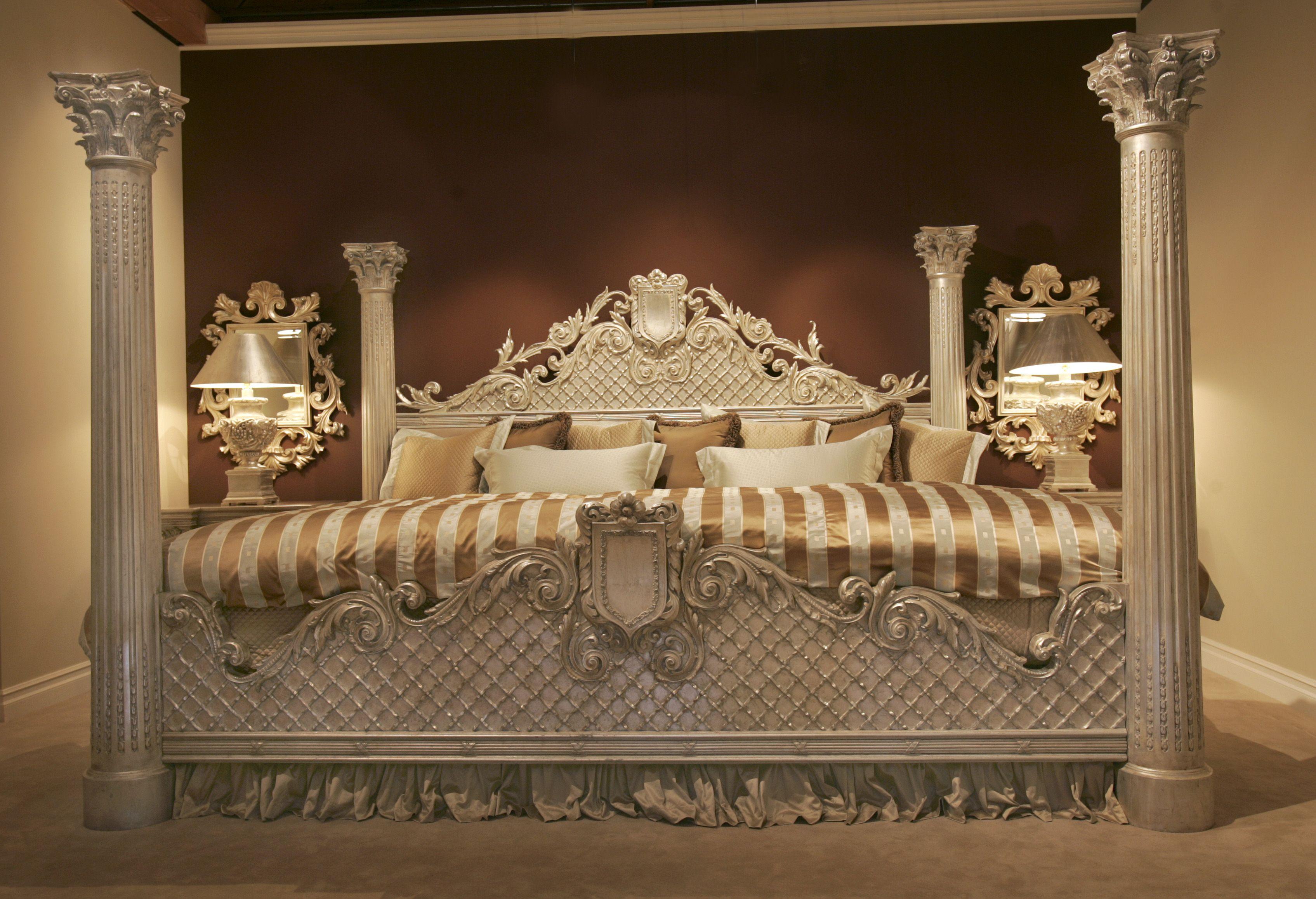4 Poster Venetian Custom Bed King Bedroom Sets Huge Bed