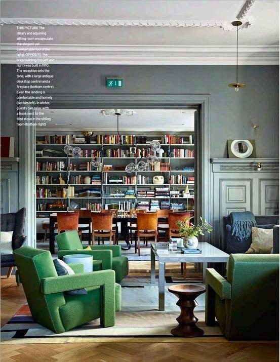 Ambientes Multifuncionais Biblioteca Na Sala De Jantar Sala De