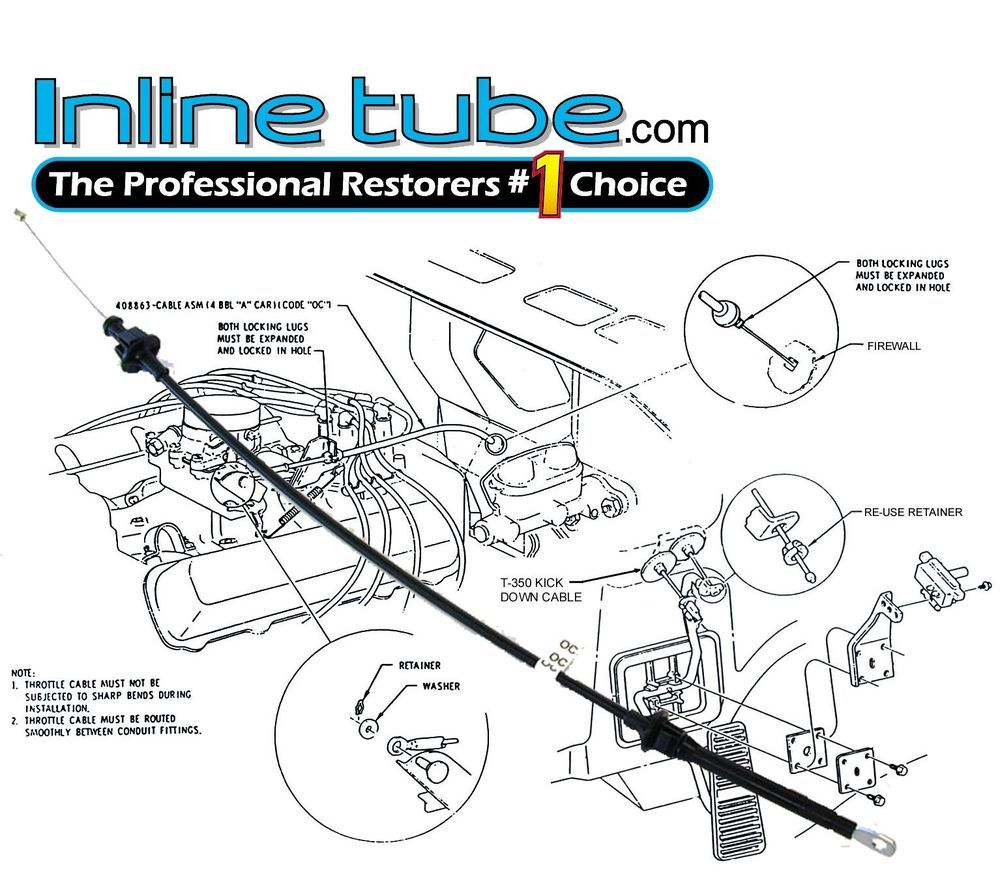 1970 1971 1972 Nosr 442 Cutlass Throttle Cable 70 71 72 Cable Throttle Transmission Line