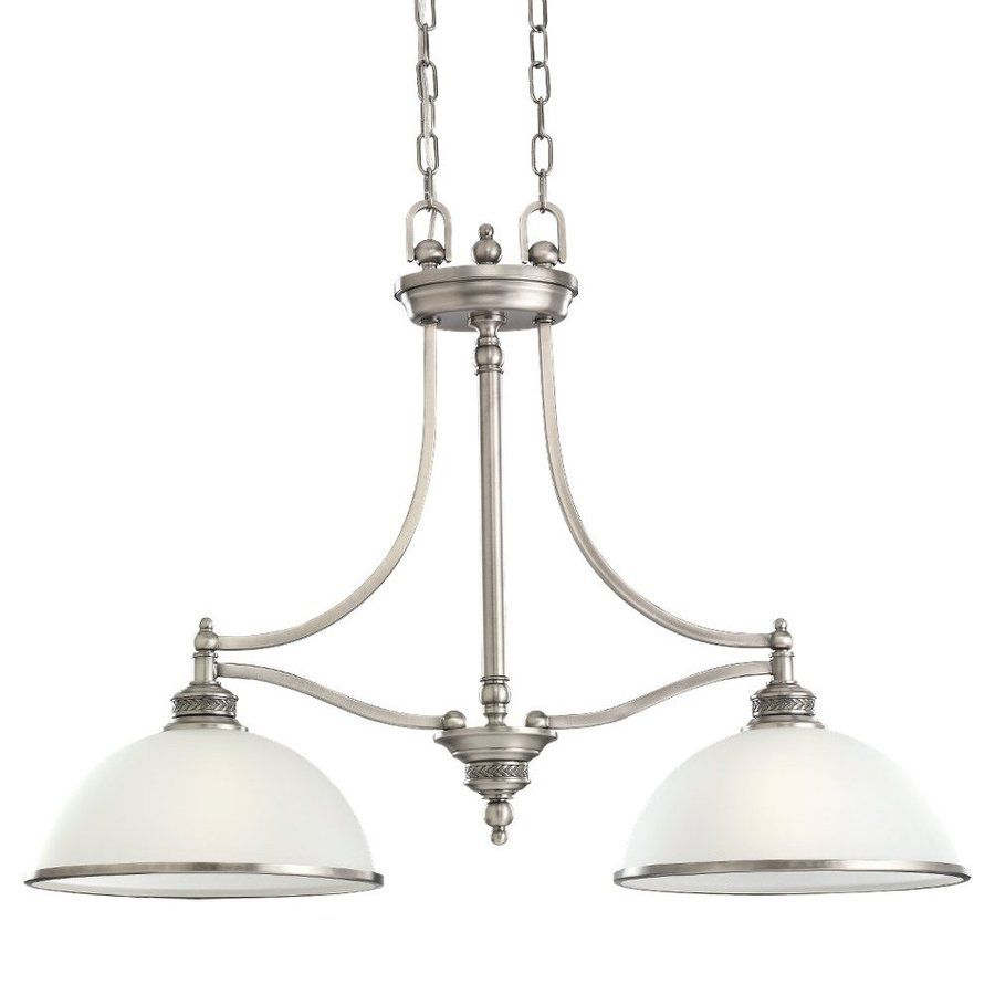 Sea Gull Lighting Laurel Leaf In W Light Antique Brushed Nickel - Brushed nickel kitchen light fixtures