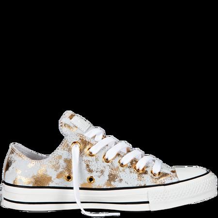 Chuck Taylor Metallic Low Cut Leather Sneaker Converse